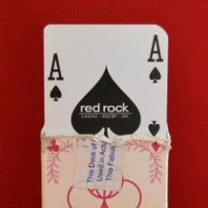 Barajas de cartas: BARAJA CARTAS POKER DEL CASINO RED ROCK LAS VEGAS U.S.A. Lote 57021221