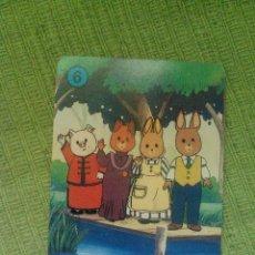 Barajas de cartas: NAIPE SUELTO DE LA BARAJA INFANTIL LA ALDEA DEL ARCE Nº 6 AZUL. Lote 57133945