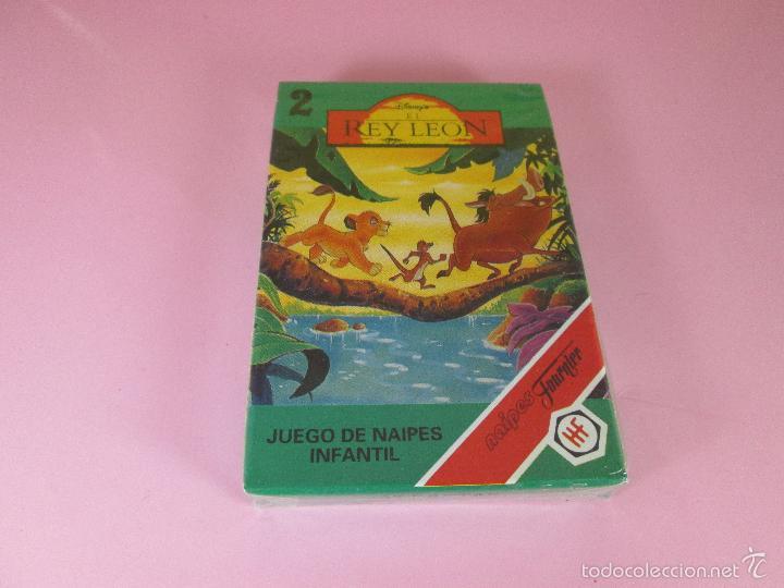 *9952-ANTIGUA BARAJA/CARTAS/NAIPES-EL REY LEÓN 2-HERACLIO FOURNIER-DISNEY-NUEVA-PRECINTADA-VER FOTOS (Juguetes y Juegos - Cartas y Naipes - Barajas Infantiles)