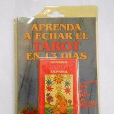 Barajas de cartas: APRENDA A ECHAR EL TAROT EN 13 DIAS. SPANISH TAROT. BILINGÜE. BARAJA + MANUAL. PRECINTADO. TDKC37. Lote 57573141