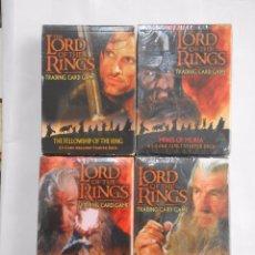 Barajas de cartas: 4 BARAJAS DE CARTAS. THE LORD OF THE RINGS. SEÑOR DE LOS ANILLOS. TRADING CARD GAME. TDKC37. Lote 57573186