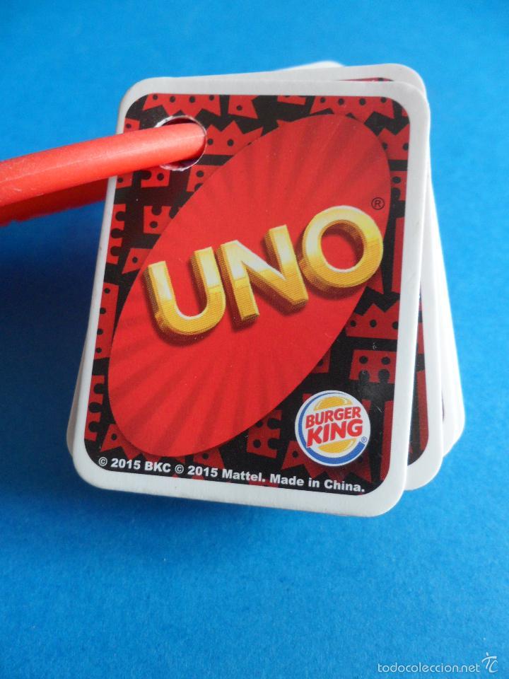 Barajas de cartas: Juego de cartas UNO Burger King - 2015 Mattel - Juego completo - Foto 6 - 57581744