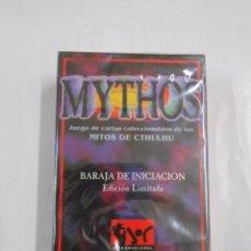 Barajas de cartas: MYTHOS. BARAJA DE INICIACION. JUEGO DE CARTAS COLECCIONABLE DE LOS MITOS DE CTHULHU. TDKC37. Lote 57591241