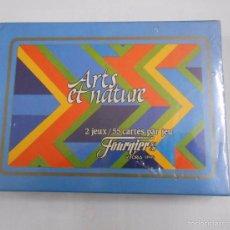 Barajas de cartas: BARAJA DE CARTAS HERACLIO FOURNIER ARTS ET NATURE. 2 BARAJAS. NUEVO. TDKC37. Lote 57592234