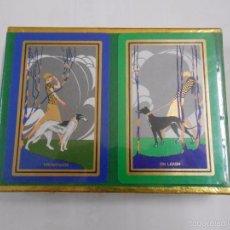 Barajas de cartas: BARAJA DE CARTAS DE POKER. CONGRESS. PLAYING CARDS. 2 BARAJAS. PERROS. ANIMALES. NUEVO. TDKC37. Lote 57592264
