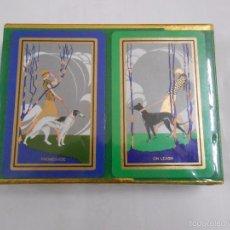 Barajas de cartas: BARAJA DE CARTAS CONGRESS. PLAYING CARDS. NUEVO. 2 BARAJAS PRECINTADAS. MOTIVO PERROS. TDKC37 . Lote 57607215