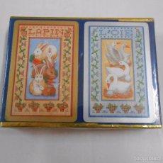 Barajas de cartas: BARAJA DE CARTAS CONGRESS. PLAYING CARDS. NUEVO. 2 BARAJAS PRECINTADAS. CONEJOS PATOS TDKC37. Lote 57607236