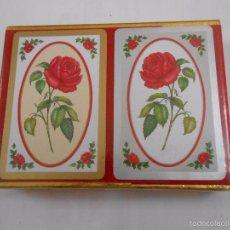 Barajas de cartas: BARAJA DE CARTAS CONGRESS. PLAYING CARDS. NUEVO. 2 BARAJAS PRECINTADAS. ROSAS, CLAVELES. TDKC37. Lote 57607266