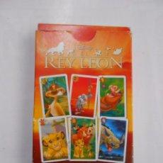 Barajas de cartas: BARAJA DE CARTAS EL REY LEON. NAIPES HERACLIO FOURNIER. 33 CARTAS. TDKC37. Lote 57617899