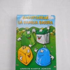 Barajas de cartas: BARAJA DE CARTAS. LA FAMILIA BASURA. JUEGO DE NAIPES INFANTIL. DIPUTACION GUIPUZCOA. TDKC37. Lote 57618011