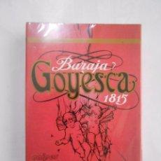 Barajas de cartas: BARAJA DE CARTAS GOYESCA. 1815. NAIPES HERACLIO FOURNIER. NUEVA. TDKC37. Lote 57618782