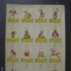Barajas de cartas: HOJA CON CARTAS PARA RECORTAR - ANTIGUO - VER FOTOS Y TAMAÑO - (V-6187). Lote 57652484