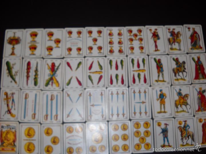 BARAJA NAIPES HIJA DE B. FOURNIER BURGOS, COMPLETA 40 NAIPES.RARAS. (Juguetes y Juegos - Cartas y Naipes - Baraja Española)