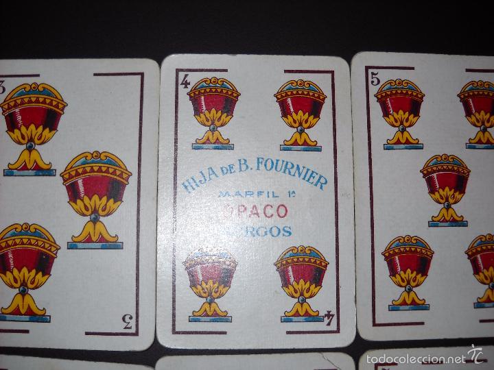 Barajas de cartas: BARAJA NAIPES HIJA DE B. FOURNIER BURGOS, COMPLETA 40 NAIPES.RARAS. - Foto 7 - 57692114