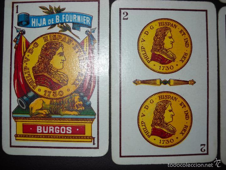Barajas de cartas: BARAJA NAIPES HIJA DE B. FOURNIER BURGOS, COMPLETA 40 NAIPES.RARAS. - Foto 8 - 57692114