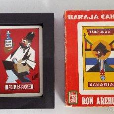 Barajas de cartas: BARAJA CANARIA PUBLICIDAD RON AREHUCAS - HERACLIO FOURNIER, S.A.. Lote 57730859