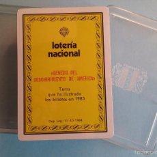 Barajas de cartas: BARAJA LOTERIA NACIONAL 1983 GENESIS DEL DESCUBRIMIENTO DE AMERICA, PRECINTADA, SIN ABRIR. Lote 170951180