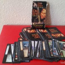 Barajas de cartas: 84 CARTAS TRADING CARDS EL SEÑOR DE LOS ANILLOS NLP NEW LINE CINEMA 2001 THE FELLOWSHIP OF THE RING. Lote 57921697