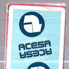 Barajas de cartas: BARAJA DE CARTAS PUBLICITARIA. HERRAMIENTAS ACESA. HERACLIO FOURNIER. 40 CARTAS. SIN ABRIR. Lote 57987531