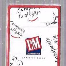 Barajas de cartas: BARAJA DE CARTAS PUBLICITARIA. L&M. CIGARETTES. HERACLIO FOURNIER. 50 CARTAS. PRECINTADA. SIN ABRIR.. Lote 57988278