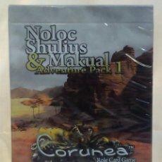 Barajas de cartas: CORUNEA *** CARTAS DE JUEGO DE ROL *** NOLOC SHULIUS & MAKUAL (ADVENTURE PACK 1) ***. Lote 57995214