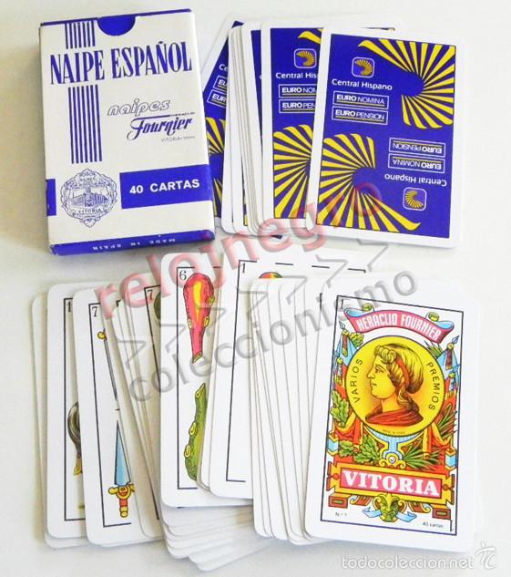 BARAJA DE CARTAS ESPAÑOLA BANCO CENTRAL HISPANO -ANTIGUA NAIPES HERACLIO FOURNIER PUBLICIDAD JUGUETE (Juguetes y Juegos - Cartas y Naipes - Baraja Española)