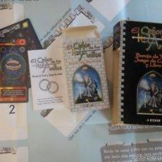 Barajas de cartas: TAROT EL SEÑOR DE LOS ANILLOS CON LIBRO Y TAPETE DE CARTULINA DESCATALOGADO LEER. Lote 58120986