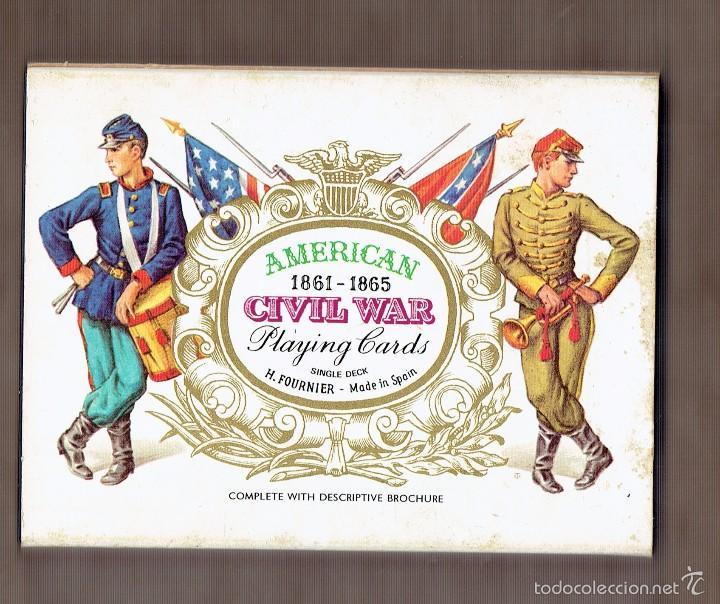BARAJA DE CARTAS POKER - CIVIL WAR PLAYING CARDS - NAIPES HERACLIO FOURNIER - NUEVA (Juguetes y Juegos - Cartas y Naipes - Barajas de Póker)