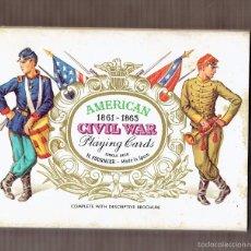 Barajas de cartas: BARAJA DE CARTAS POKER - CIVIL WAR PLAYING CARDS - NAIPES HERACLIO FOURNIER - NUEVA. Lote 58190780