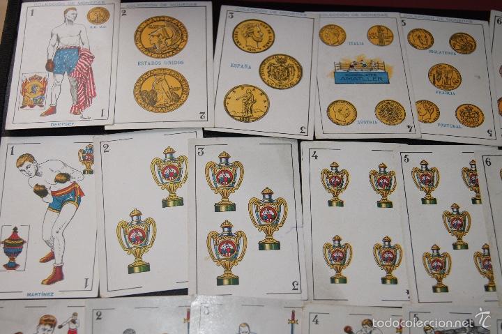 Barajas de cartas: BARAJA COLECCION MONEDAS COMPLETA 48 CARTAS PUBLICIDAD CHOCOLATES AMATLLER 1923 RARA - Foto 3 - 58214642