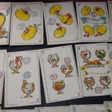 Barajas de cartas: BARAJA ZOOLOGICA ORIGINAL DEL MURO COMPLETA 40 CARTAS 1932 PUBLICIDAD AZAFRANES LA BARAJA NOVELDA . Lote 58214689