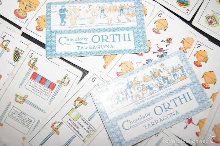 Barajas de cartas: BARAJA DE FUTBOL ZAMORA PUBLICIDAD CHOCOLATES ORTHI TARRAGONA 1920 COMPLETA 48 CARTAS - Foto 8 - 58214784