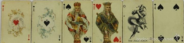 Barajas de cartas: BARAJA DE POKER. 54 CARTAS. JMC. FABRICADO EN SUIZA. SIGLO XIX. - Foto 4 - 58373775