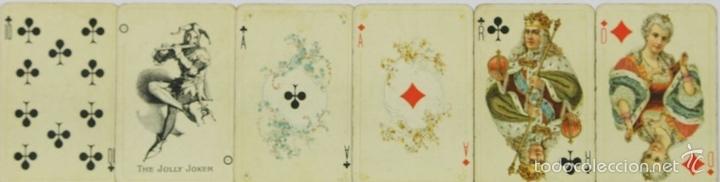 Barajas de cartas: BARAJA DE POKER. 54 CARTAS. JMC. FABRICADO EN SUIZA. SIGLO XIX. - Foto 5 - 58373775