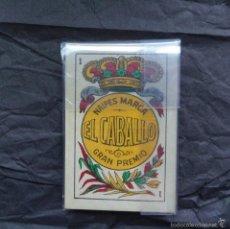 Barajas de cartas: BARAJA CARTAS EL CABALLO - MODELO CADIZ - LUIS GUARRO 1907 - TIMBRE EN EL 5 DE ESPADAS. Lote 151386946