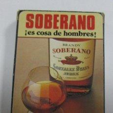 Barajas de cartas: BARAJA DE CARTAS. PUBLICITARIA. BRANDY SOBERANO. GONZALEZ BYASS. ESPAÑOLA. PRECINTADA.. Lote 58478073