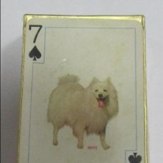 Barajas de cartas: BARAJA DE CARTAS. FAMOUS DOGS OF THE WORLD. POKER. RAZAS DE PERROS. Nº 909. PRECINTADA. Lote 58491591
