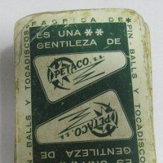 Barajas de cartas: BARAJA DE CARTAS. PUBLICITARIA. PIN - BALLS Y TOCADISCOS. PETACO S.A. VER. Lote 153594186