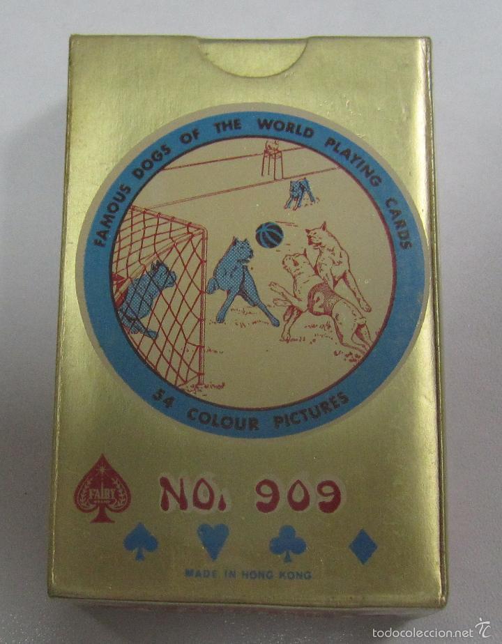 BARAJA DE CARTAS. FAMOUS DOGS OF THE WORLD. POKER. RAZAS DE PERROS. Nº 909. PRECINTADA (Juguetes y Juegos - Cartas y Naipes - Barajas de Póker)