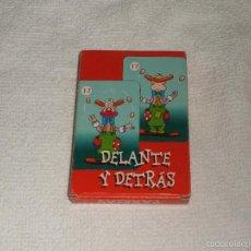 Barajas de cartas: BARAJA DE CARTAS DELANTE Y DETRÁS. Lote 58511190