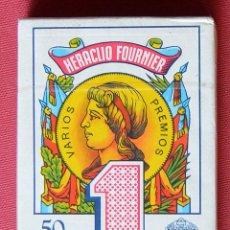 Barajas de cartas: BARAJA DE CARTAS - FOURNIER - Nº 1 - EN ROJO - NUEVA - PRECINTADA. Lote 58567140