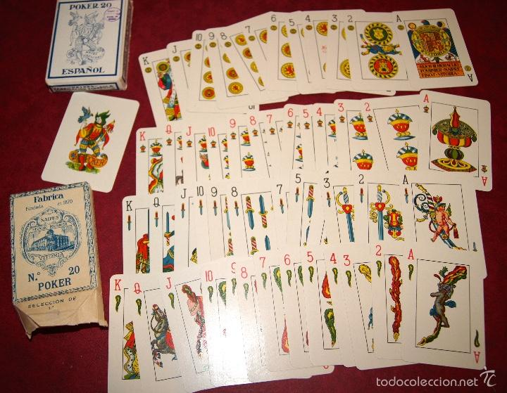 BARAJA POKER ESPAÑOL Nº 20 1937 HIJOS DE HERACLIO FOURNIER VITORIA (Juguetes y Juegos - Cartas y Naipes - Otras Barajas)