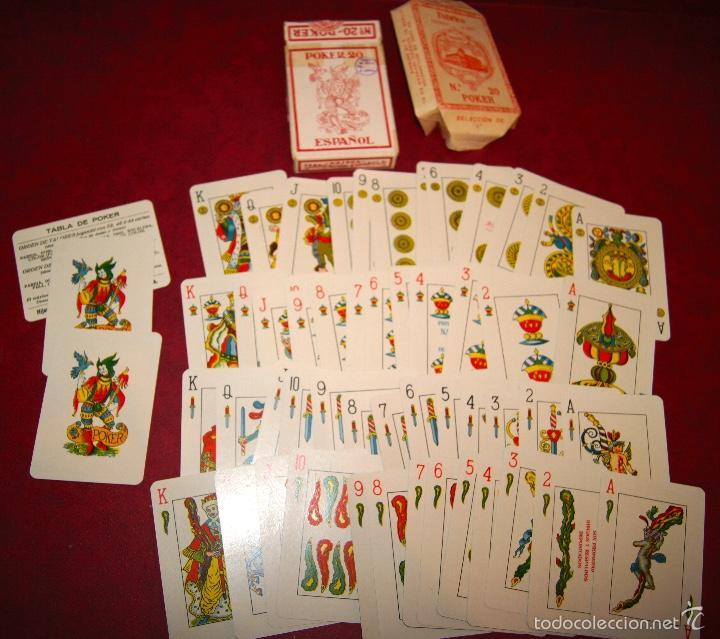 BARAJA POKER ESPAÑOL Nº 20 1939 HIJOS DE HERACLIO FOURNIER VITORIA (Juguetes y Juegos - Cartas y Naipes - Barajas de Póker)