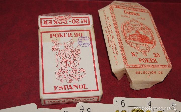 Barajas de cartas: BARAJA POKER ESPAÑOL Nº 20 1939 HIJOS DE HERACLIO FOURNIER VITORIA - Foto 2 - 58604649