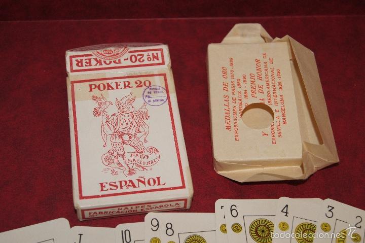 Barajas de cartas: BARAJA POKER ESPAÑOL Nº 20 1939 HIJOS DE HERACLIO FOURNIER VITORIA - Foto 3 - 58604649