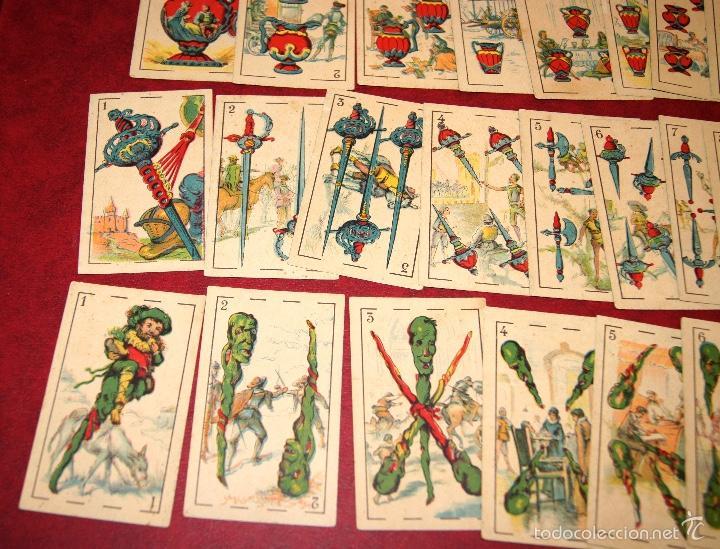 Barajas de cartas: BARAJA CROMOS DON QUIJOTE COMPLETA 48 CARTAS PUBLICIDAD CHOCOLATES PI 1918 - Foto 2 - 58604781