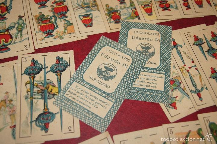 Barajas de cartas: BARAJA CROMOS DON QUIJOTE COMPLETA 48 CARTAS PUBLICIDAD CHOCOLATES PI 1918 - Foto 6 - 58604781
