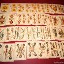 Barajas de cartas: BARAJA COMPLETA 48 CROMOS CHOCOLATES EL BARCO PEQUEÑA SIMEON DURA VALENCIA 1895 . Lote 58605061