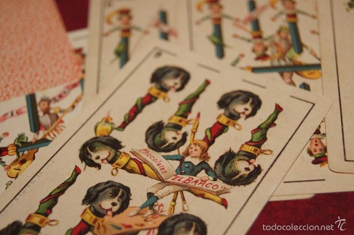 Barajas de cartas: BARAJA COMPLETA 48 CROMOS CHOCOLATES EL BARCO PEQUEÑA SIMEON DURA VALENCIA 1895 - Foto 8 - 58605061