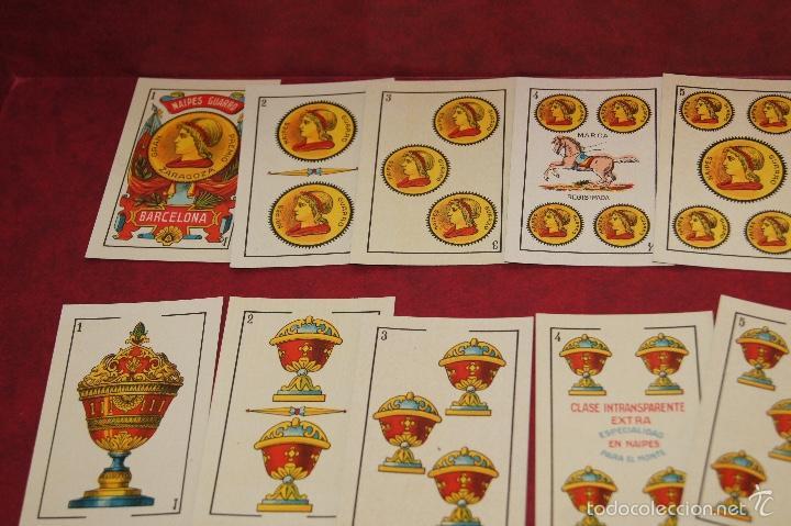 Barajas de cartas: BARAJA 48 NAIPES LUIS GUARRO BARCELONA EL CABALLO PARA CASINOS 1907 - Foto 2 - 58605291